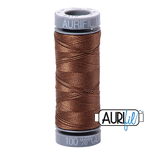 Aurifil Mako 28wt Cotton 100 m (109 yd.) spool - 2372 Dark Antique Gold<br><font color = red>Please note, this item is not available in-store, but will be ordered for you.</font>