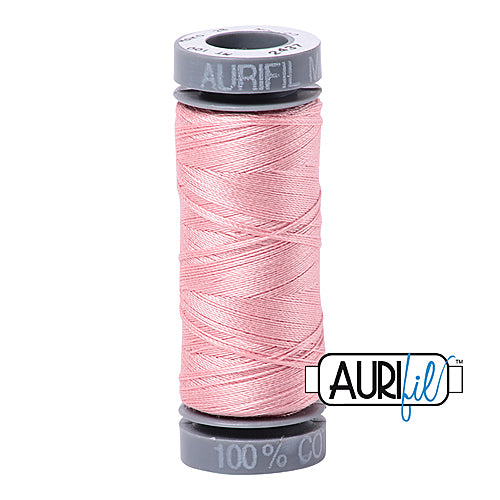 Aurifil Mako 28wt Cotton 100 m (109 yd.) spool - 2437 Light Peony<br><font color = red>Please note, this item is not available in-store, but will be ordered for you.</font>