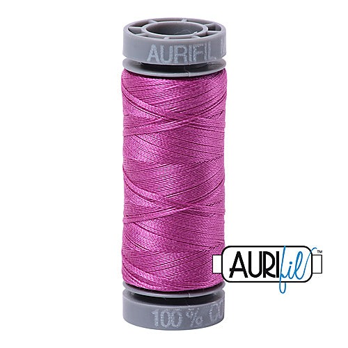Aurifil Mako 28wt Cotton 100 m (109 yd.) spool - 2535 Magenta<br><font color = red>Please note, this item is not available in-store, but will be ordered for you.</font>