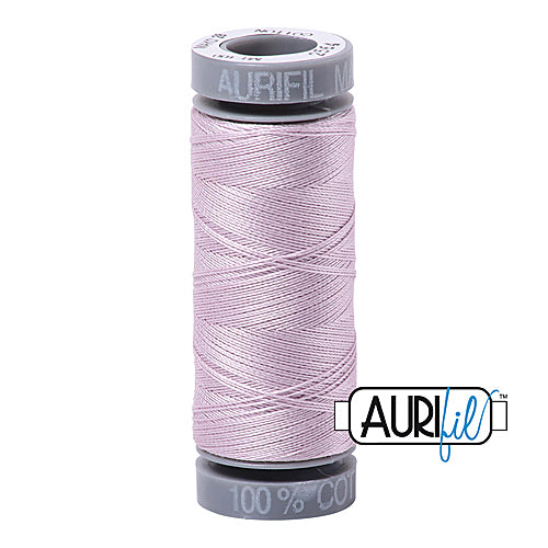 Aurifil Mako 28wt Cotton 100 m (109 yd.) spool - 2564 Pale Lilac<br><font color = red>Please note, this item is not available in-store, but will be ordered for you.</font>