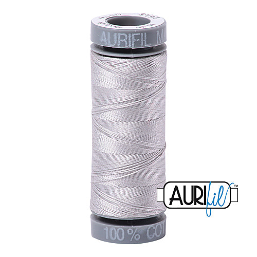Aurifil Mako 28wt Cotton 100 m (109 yd.) spool - 2615 Aluminium<br><font color = red>Please note, this item is not available in-store, but will be ordered for you.</font>