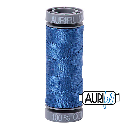 Aurifil Mako 28wt Cotton 100 m (109 yd.) spool - 2730 Delft Blue<br><font color = red>Please note, this item is not available in-store, but will be ordered for you.</font>