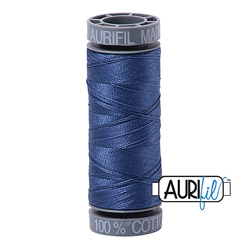 Aurifil Mako 28wt Cotton 100 m (109 yd.) spool - 2775 Street Blue<br><font color = red>Please note, this item is not available in-store, but will be ordered for you.</font>