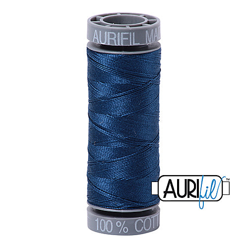 Aurifil Mako 28wt Cotton 100 m (109 yd.) spool - 2783 Medium Delft Blue<br><font color = red>Please note, this item is not available in-store, but will be ordered for you.</font>