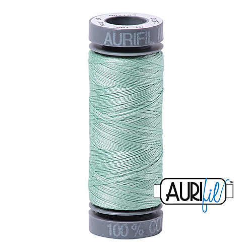 Aurifil Mako 28wt Cotton 100 m (109 yd.) spool - 2830 Mint<br><font color = red>Please note, this item is not available in-store, but will be ordered for you.</font>