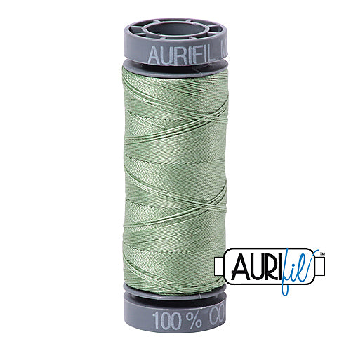 Aurifil Mako 28wt Cotton 100 m (109 yd.) spool - 2840 Loden Green<br><font color = red>Please note, this item is not available in-store, but will be ordered for you.</font>