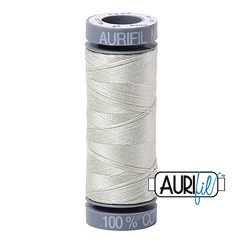 Aurifil Mako 28wt Cotton 100 m (109 yd.) spool - 2843 Grey Green<br><font color = red>Please note, this item is not available in-store, but will be ordered for you.</font>