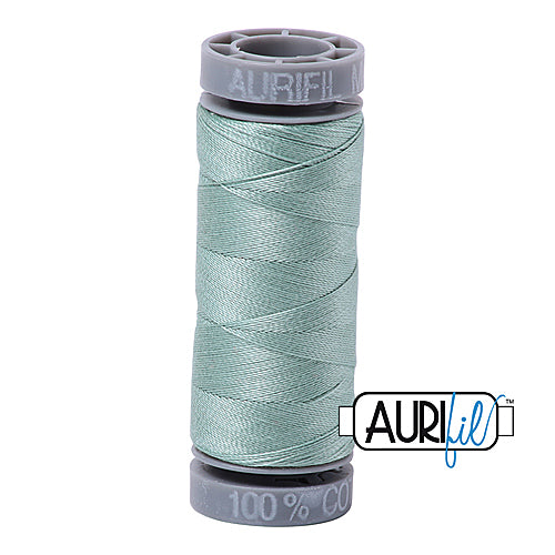 Aurifil Mako 28wt Cotton 100 m (109 yd.) spool - 2845 Light Juniper<br><font color = red>Please note, this item is not available in-store, but will be ordered for you.</font>