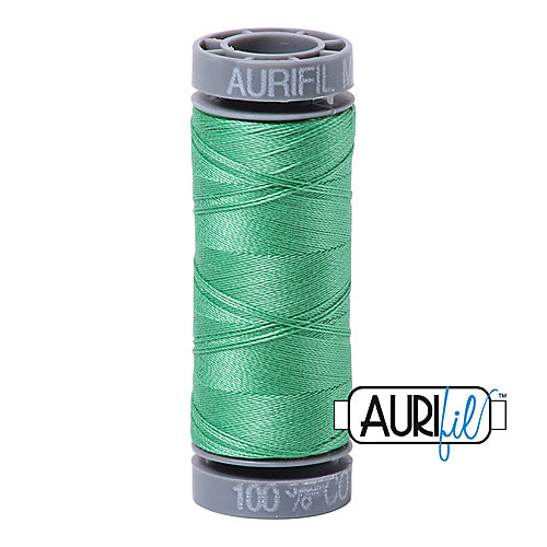 Aurifil Mako 28wt Cotton 100 m (109 yd.) spool - 2860 Light Emerald<br><font color = red>Please note, this item is not available in-store, but will be ordered for you.</font>