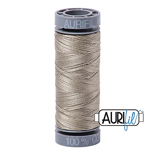 Aurifil Mako 28wt Cotton 100 m (109 yd.) spool - 2900 Light Kakhy Green<br><font color = red>Please note, this item is not available in-store, but will be ordered for you.</font>
