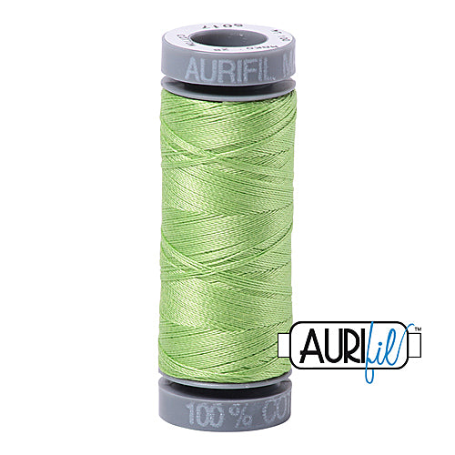 Aurifil Mako 28wt Cotton 100 m (109 yd.) spool - 5017 Shining Green<br><font color = red>Please note, this item is not available in-store, but will be ordered for you.</font>