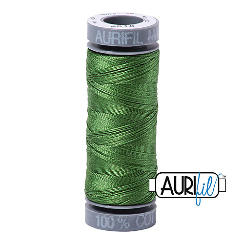 Aurifil Mako 28wt Cotton 100 m (109 yd.) spool - 5018 Dark Grass Green<br><font color = red>Please note, this item is not available in-store, but will be ordered for you.</font>