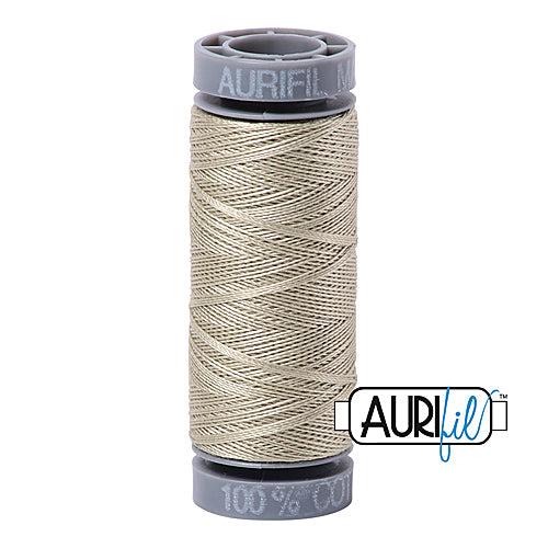 Aurifil Mako 28wt Cotton 100 m (109 yd.) spool - 5020 Light Military Green<br><font color = red>Please note, this item is not available in-store, but will be ordered for you.</font>