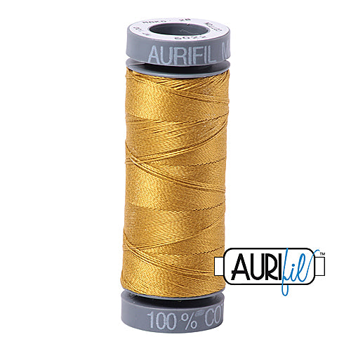 Aurifil Mako 28wt Cotton 100 m (109 yd.) spool - 5022 Mustard<br><font color = red>Please note, this item is not available in-store, but will be ordered for you.</font>