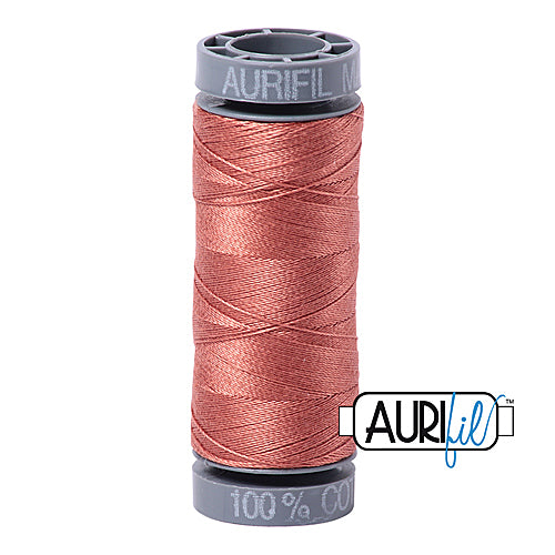 Aurifil Mako 28wt Cotton 100 m (109 yd.) spool - 6728 Cinnabar<br><font color = red>Please note, this item is not available in-store, but will be ordered for you.</font>