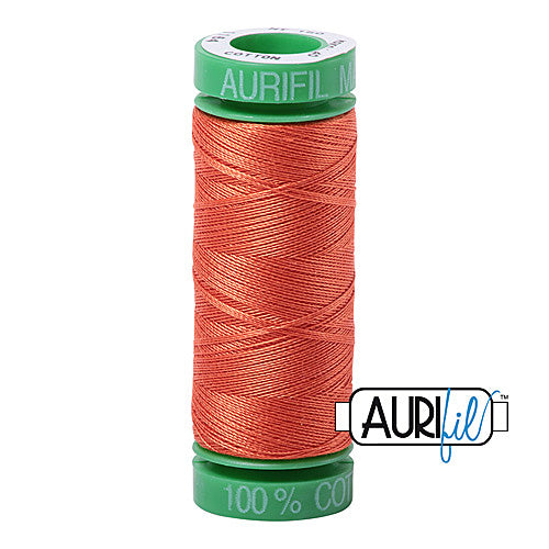 Aurifil Mako 40wt 2-ply Cotton 150 m (164 yd.) spool - 1154 Dusty Orange<br><font color = red>Please note, this item is not available in-store, but will be ordered for you.</font>