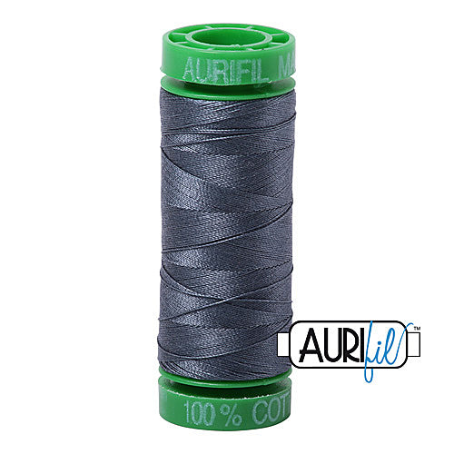Aurifil Mako 40wt 2-ply Cotton 150 m (164 yd.) spool - 1158 Medium Grey<br><font color = red>Please note, this item is not available in-store, but will be ordered for you.</font>