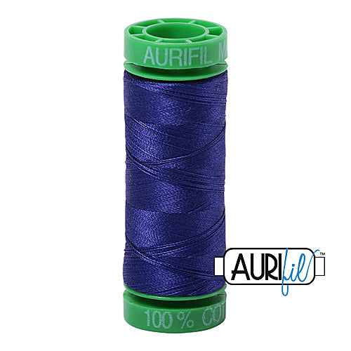 Aurifil Mako 40wt 2-ply Cotton 150 m (164 yd.) spool - 1200 Blue Violet<br><font color = red>Please note, this item is not available in-store, but will be ordered for you.</font>