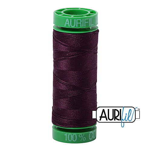 Aurifil Mako 40wt 2-ply Cotton 150 m (164 yd.) spool - 1240 Very Dark Eggplant<br><font color = red>Please note, this item is not available in-store, but will be ordered for you.</font>
