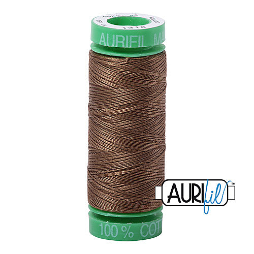Aurifil Mako 40wt 2-ply Cotton 150 m (164 yd.) spool - 1318 Dark Sandstone<br><font color = red>Please note, this item is not available in-store, but will be ordered for you.</font>