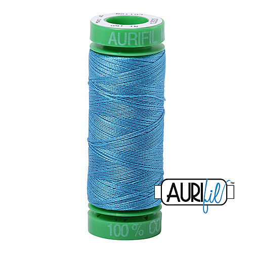 Aurifil Mako 40wt 2-ply Cotton 150 m (164 yd.) spool - 1320 Bright Teal<br><font color = red>Please note, this item is not available in-store, but will be ordered for you.</font>