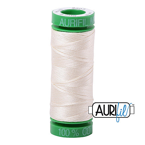 Aurifil Mako 40wt 2-ply Cotton 150 m (164 yd.) spool - 2026 Chalk<br><font color = red>Please note, this item is not available in-store, but will be ordered for you.</font>