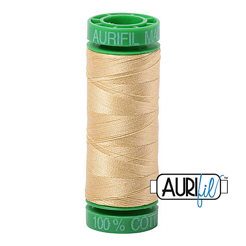 Aurifil Mako 40wt 2-ply Cotton 150 m (164 yd.) spool - 2125 Wheat<br><font color = red>Please note, this item is not available in-store, but will be ordered for you.</font>