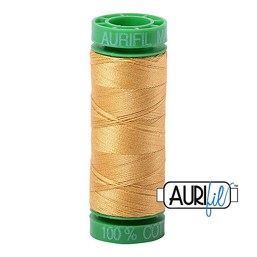 Aurifil Mako 40wt 2-ply Cotton 150 m (164 yd.) spool - 2134 Spun Gold<br><font color = red>Please note, this item is not available in-store, but will be ordered for you.</font>