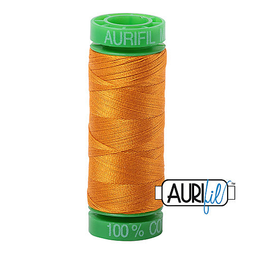 Aurifil Mako 40wt 2-ply Cotton 150 m (164 yd.) spool - 2145 Yellow Orange<br><font color = red>Please note, this item is not available in-store, but will be ordered for you.</font>