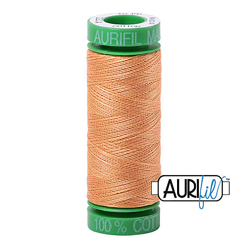 Aurifil Mako 40wt 2-ply Cotton 150 m (164 yd.) spool - 2214 Golden Honey<br><font color = red>Please note, this item is not available in-store, but will be ordered for you.</font>