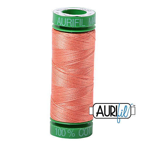 Aurifil Mako 40wt 2-ply Cotton 150 m (164 yd.) spool - 2220 Light Salmon<br><font color = red>Please note, this item is not available in-store, but will be ordered for you.</font>