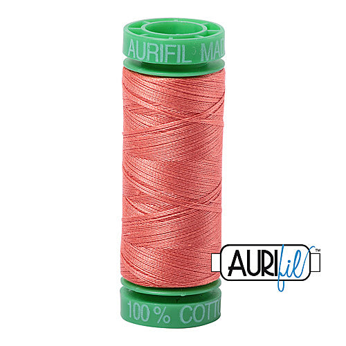 Aurifil Mako 40wt 2-ply Cotton 150 m (164 yd.) spool - 2225 Salmon<br><font color = red>Please note, this item is not available in-store, but will be ordered for you.</font>