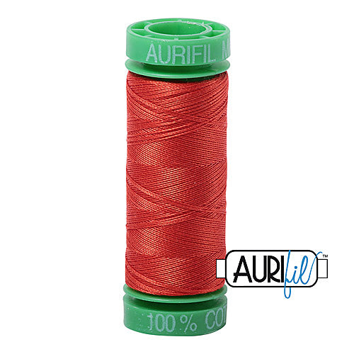 Aurifil Mako 40wt 2-ply Cotton 150 m (164 yd.) spool - 2245 Red Orange<br><font color = red>Please note, this item is not available in-store, but will be ordered for you.</font>