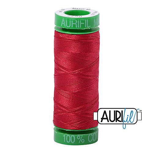 Aurifil Mako 40wt 2-ply Cotton 150 m (164 yd.) spool - 2250 Red<br><font color = red>Please note, this item is not available in-store, but will be ordered for you.</font>