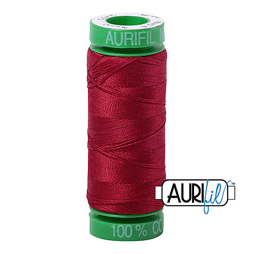 Aurifil Mako 40wt 2-ply Cotton 150 m (164 yd.) spool - 2260 Red Wine<br><font color = red>Please note, this item is not available in-store, but will be ordered for you.</font>