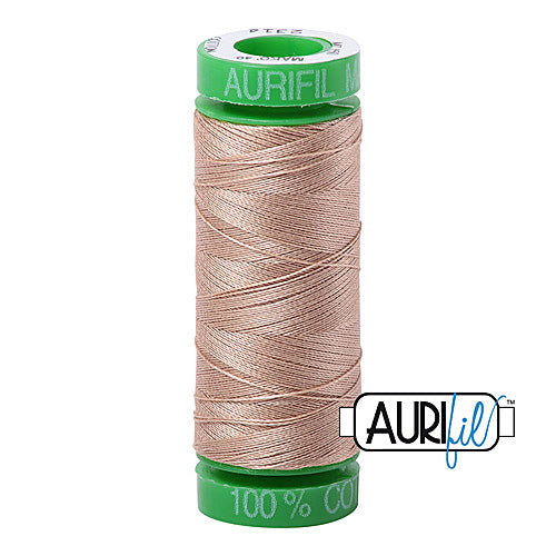 Aurifil Mako 40wt 2-ply Cotton 150 m (164 yd.) spool - 2314 Beige<br><font color = red>Please note, this item is not available in-store, but will be ordered for you.</font>