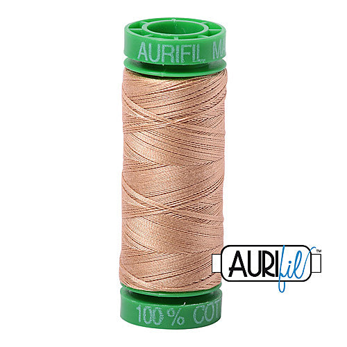 Aurifil Mako 40wt 2-ply Cotton 150 m (164 yd.) spool - 2318 Cachemire<br><font color = red>Please note, this item is not available in-store, but will be ordered for you.</font>