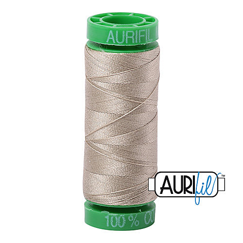 Aurifil Mako 40wt 2-ply Cotton 150 m (164 yd.) spool - 2324 Stone<br><font color = red>Please note, this item is not available in-store, but will be ordered for you.</font>