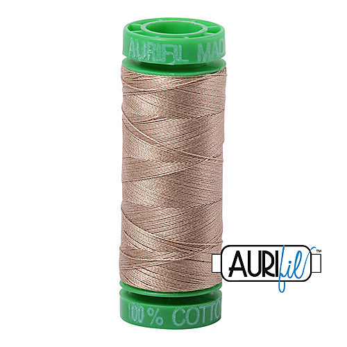 Aurifil Mako 40wt 2-ply Cotton 150 m (164 yd.) spool - 2325 Linen<br><font color = red>Please note, this item is not available in-store, but will be ordered for you.</font>