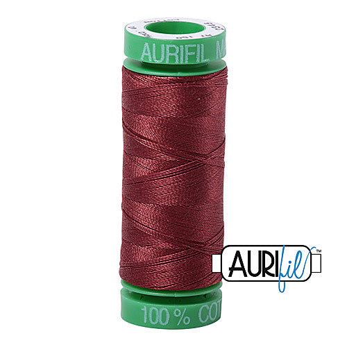 Aurifil Mako 40wt 2-ply Cotton 150 m (164 yd.) spool - 2345 Raisin<br><font color = red>Please note, this item is not available in-store, but will be ordered for you.</font>