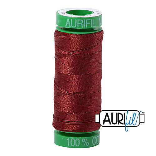 Aurifil Mako 40wt 2-ply Cotton 150 m (164 yd.) spool - 2355 Rust<br><font color = red>Please note, this item is not available in-store, but will be ordered for you.</font>
