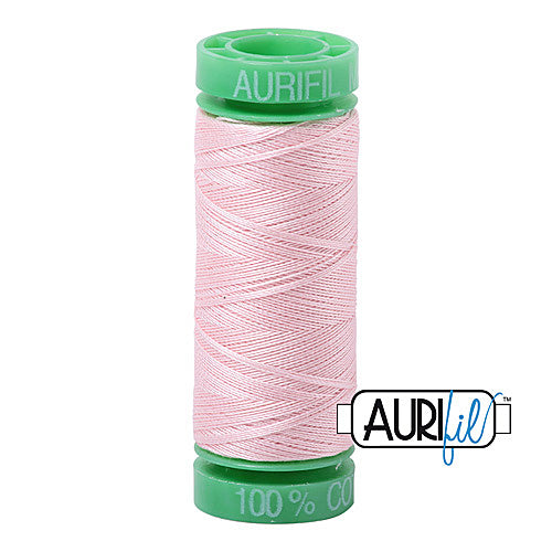 Aurifil Mako 40wt 2-ply Cotton 150 m (164 yd.) spool - 2410 Pale Pink<br><font color = red>Please note, this item is not available in-store, but will be ordered for you.</font>