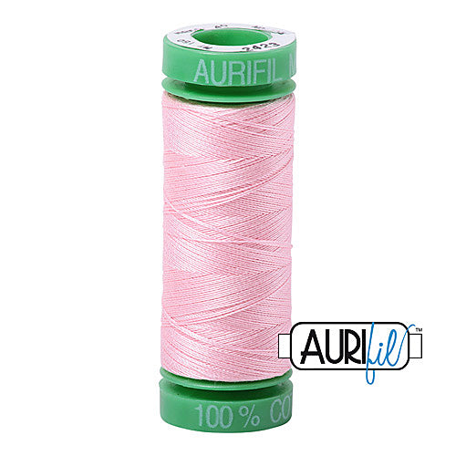 Aurifil Mako 40wt 2-ply Cotton 150 m (164 yd.) spool - 2423 Baby Pink<br><font color = red>Please note, this item is not available in-store, but will be ordered for you.</font>