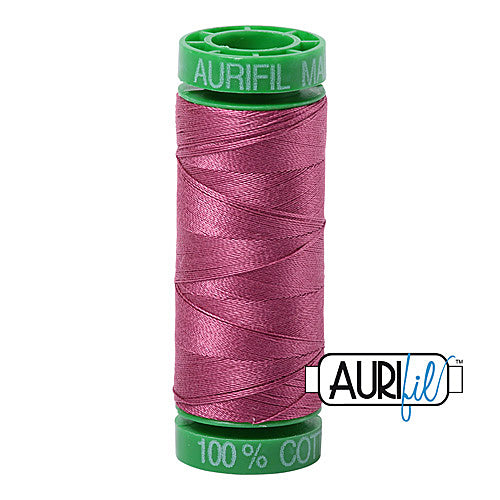 Aurifil Mako 40wt 2-ply Cotton 150 m (164 yd.) spool - 2450 Rose<br><font color = red>Please note, this item is not available in-store, but will be ordered for you.</font>