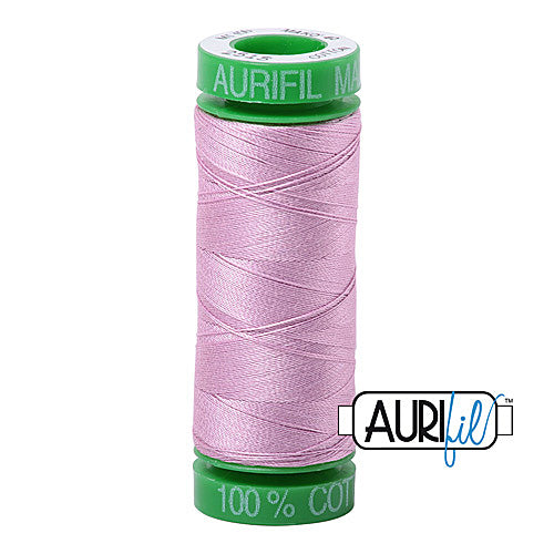 Aurifil Mako 40wt 2-ply Cotton 150 m (164 yd.) spool - 2515 Light Orchid<br><font color = red>Please note, this item is not available in-store, but will be ordered for you.</font>