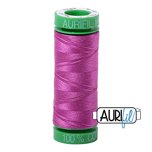 Aurifil Mako 40wt 2-ply Cotton 150 m (164 yd.) spool - 2535 Magenta<br><font color = red>Please note, this item is not available in-store, but will be ordered for you.</font>