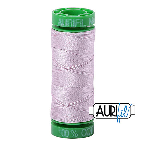 Aurifil Mako 40wt 2-ply Cotton 150 m (164 yd.) spool - 2564 Pale Lilac<br><font color = red>Please note, this item is not available in-store, but will be ordered for you.</font>