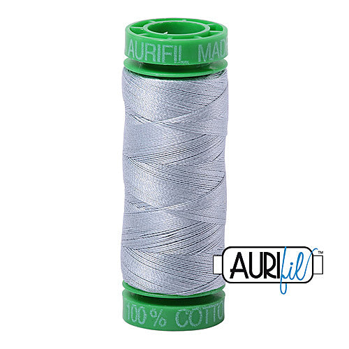 Aurifil Mako 40wt 2-ply Cotton 150 m (164 yd.) spool - 2612 Arctic Sky<br><font color = red>Please note, this item is not available in-store, but will be ordered for you.</font>