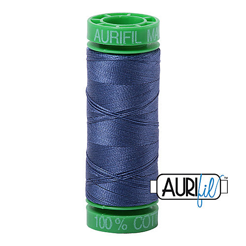 Aurifil Mako 40wt 2-ply Cotton 150 m (164 yd.) spool - 2775 Street Blue<br><font color = red>Please note, this item is not available in-store, but will be ordered for you.</font>