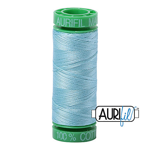Aurifil Mako 40wt 2-ply Cotton 150 m (164 yd.) spool - 2805 Light Grey Turquoise<br><font color = red>Please note, this item is not available in-store, but will be ordered for you.</font>